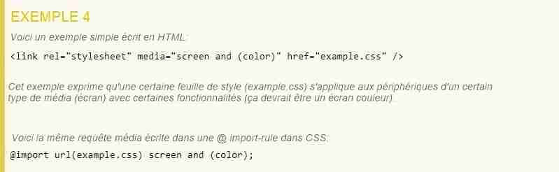 CSS Media Queries Exemple 4