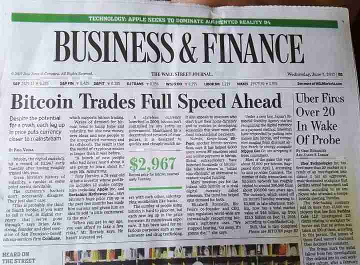 Bitcoin On Newspapers