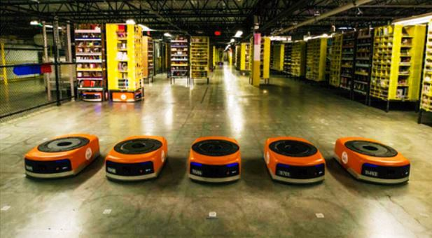 AI - la robotique Kiva d'Amazon