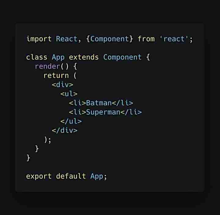 React application qui retourne une liste de super-héros